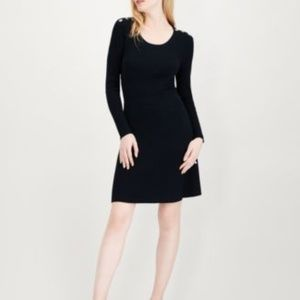 Extra Large Ribbed Sweater Dress with Buttons